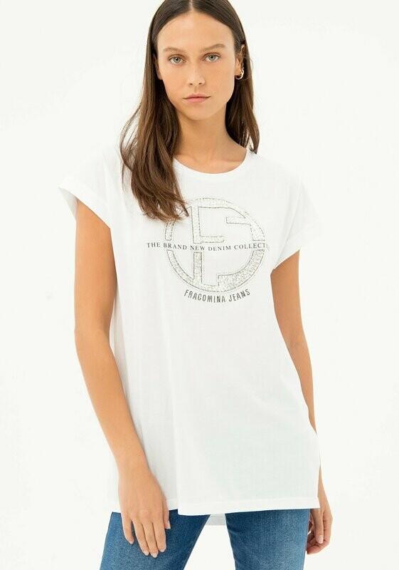 Over jersey T-shirt