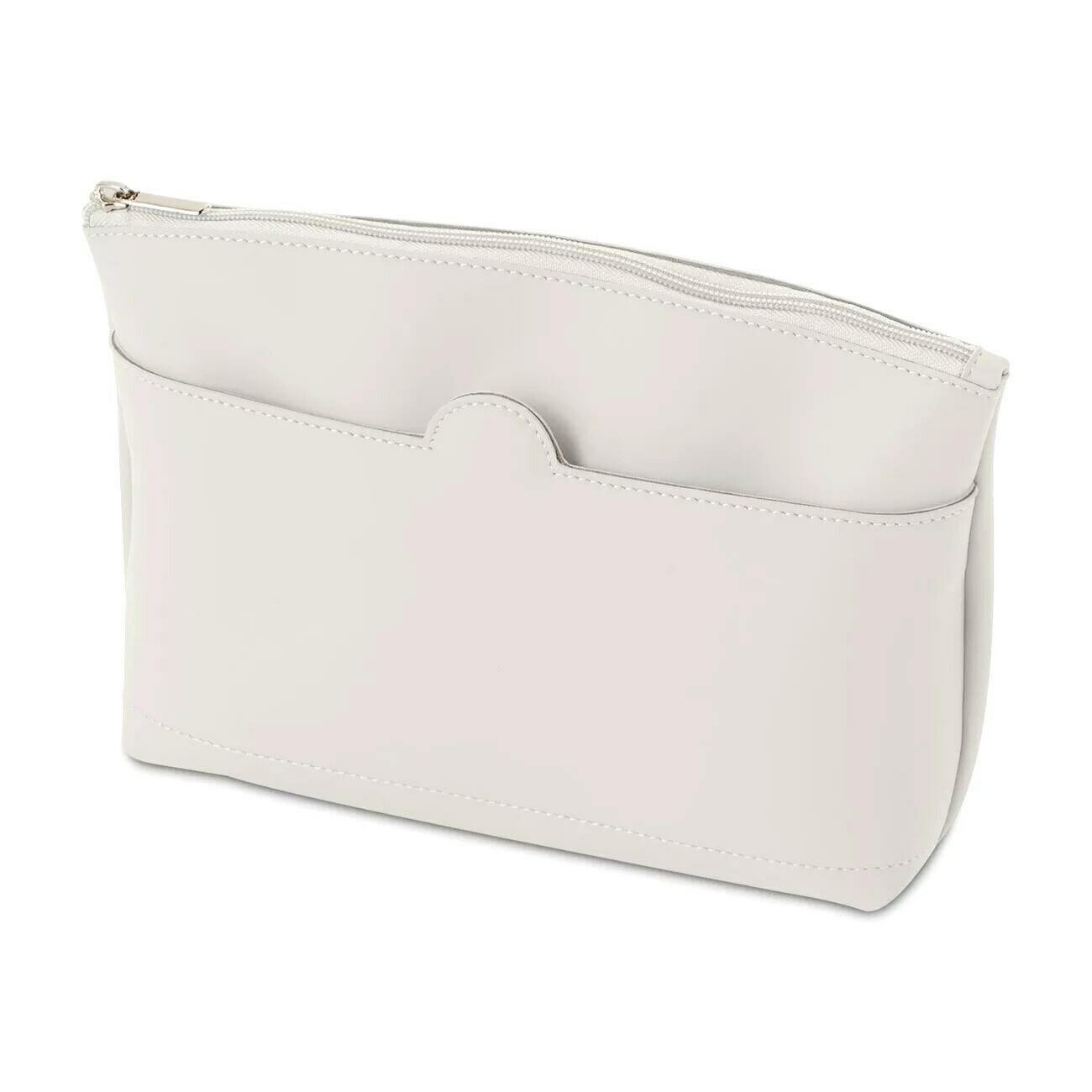O bag up pochette in tessuto gommato soft