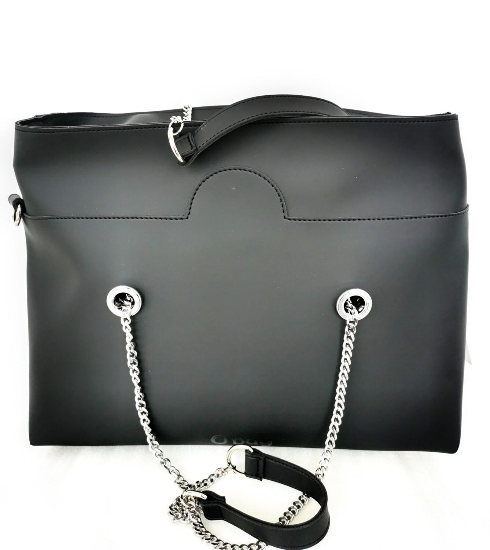 O bag wide con manici a catena