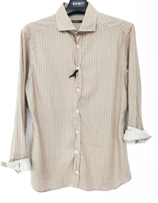 Camicia slim fit con collo francese