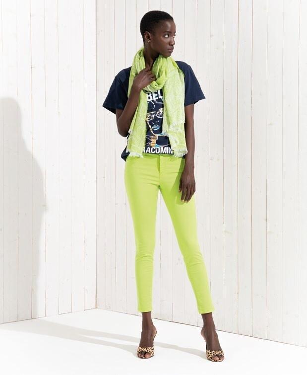 Pantalone skinny in cotone stretch