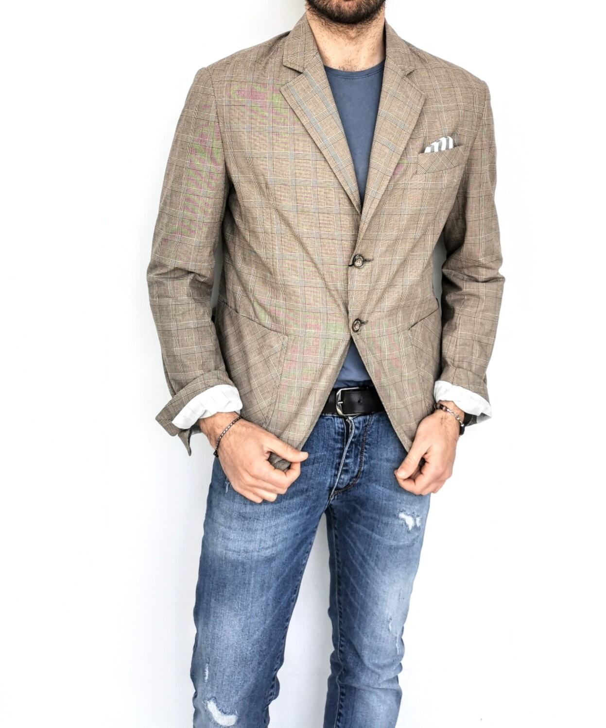 ​Checked cotton jacket