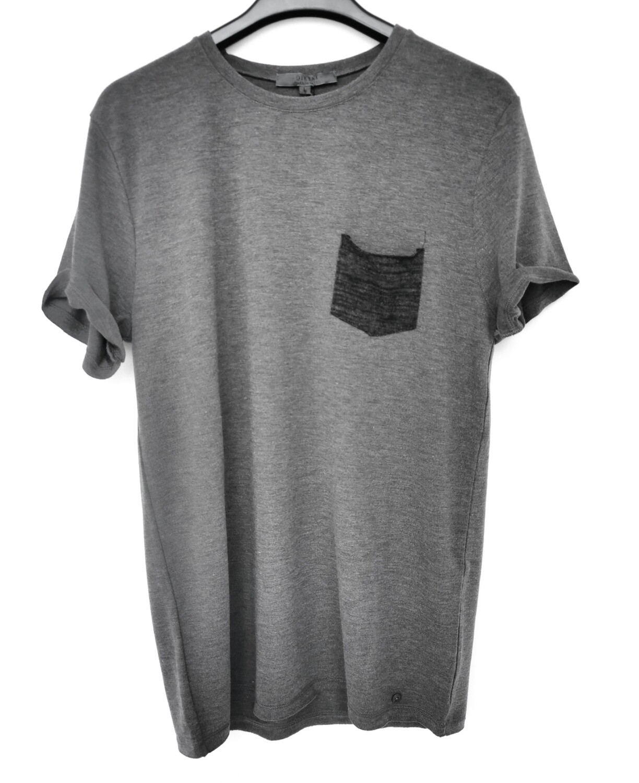 T-shirt in maglia misto lana