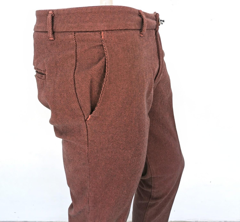 Pantalone chino punto riso