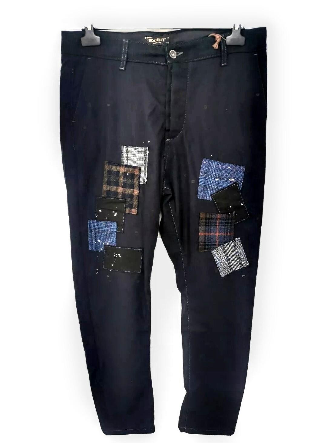 Pantalone in tessuto felpato con patch