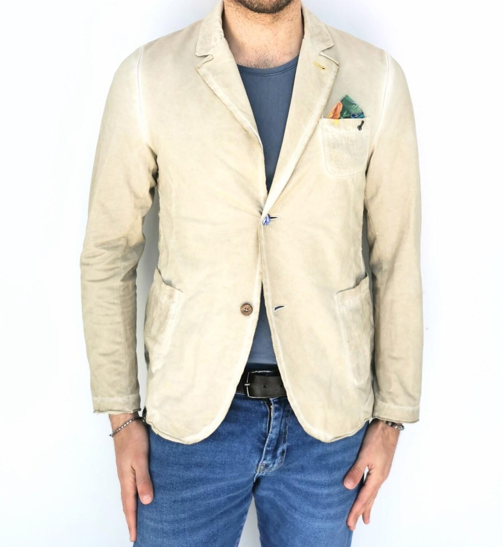 Giacca in lino e cotone