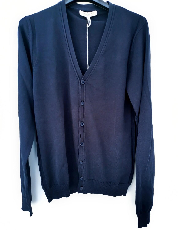 Cardigan corto in filo di cotone
