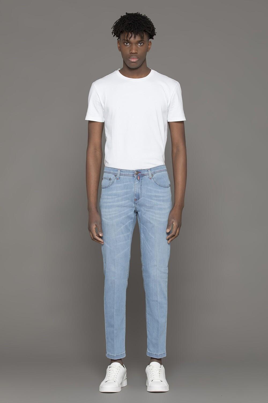 Jeans slim fit in denim stretch chiaro