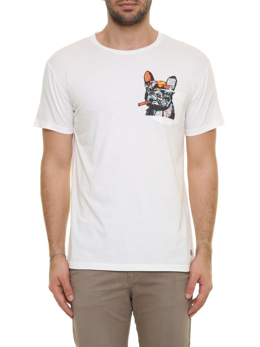T-shirt con stampa bull dog
