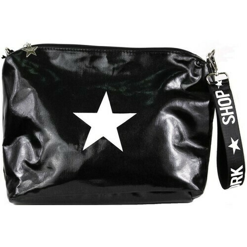 Maxi clutch bag with shoulder strap
