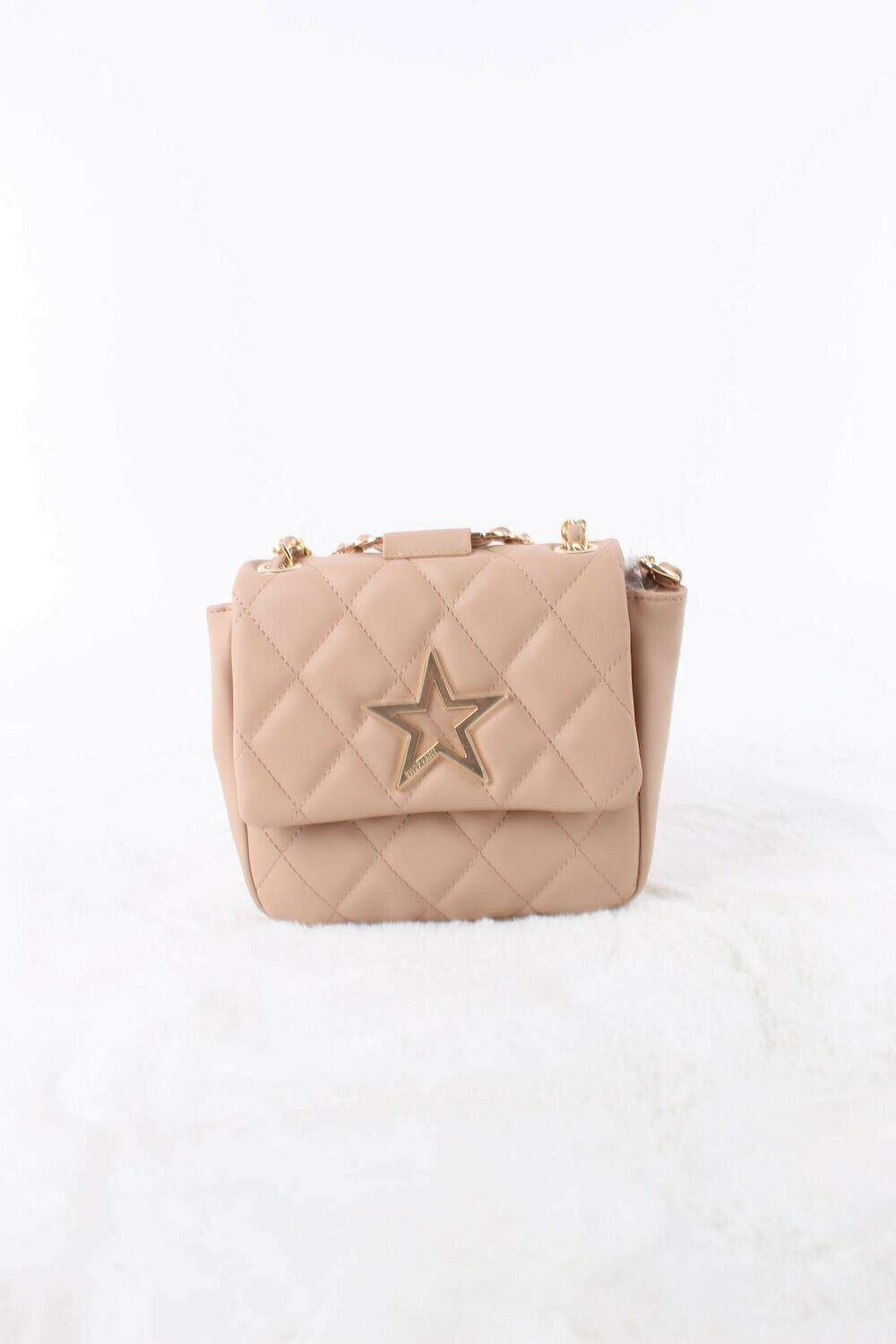 Mini bag in quilted eco leather