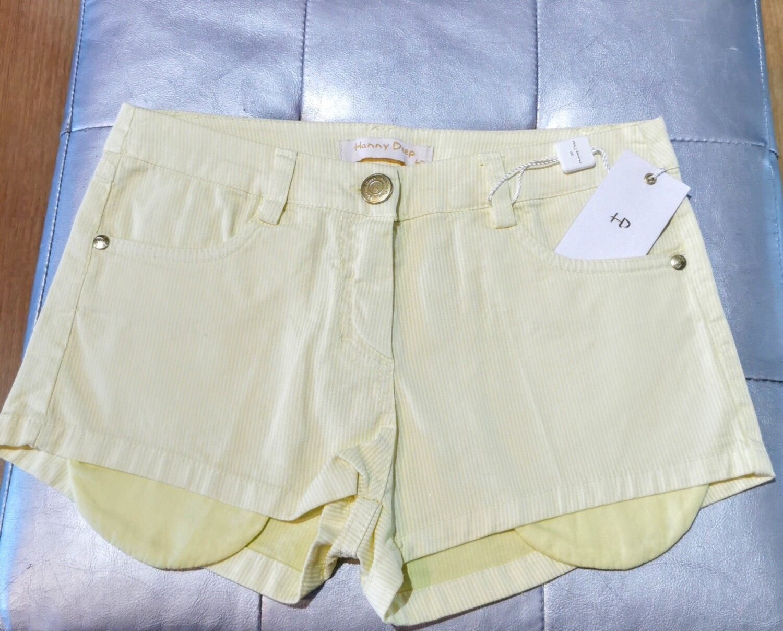 Mini shorts in cotone millerighe
