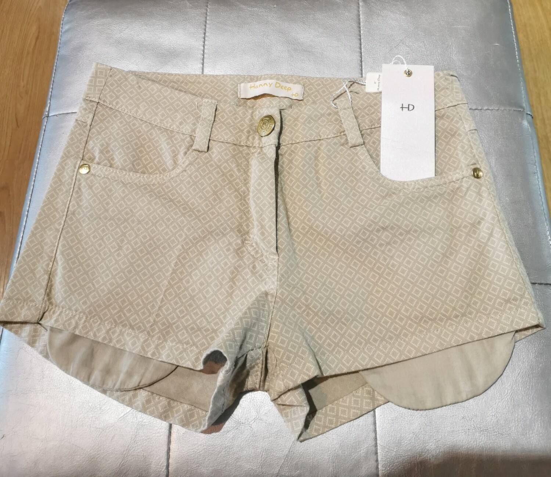 Mini shorts in cotone fantasia rombi