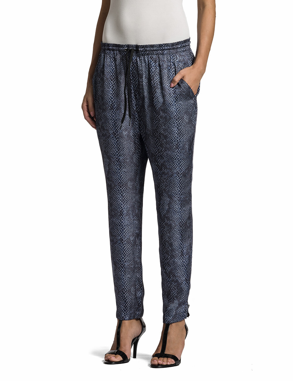 Pantalone coulisse in tessuto fluido