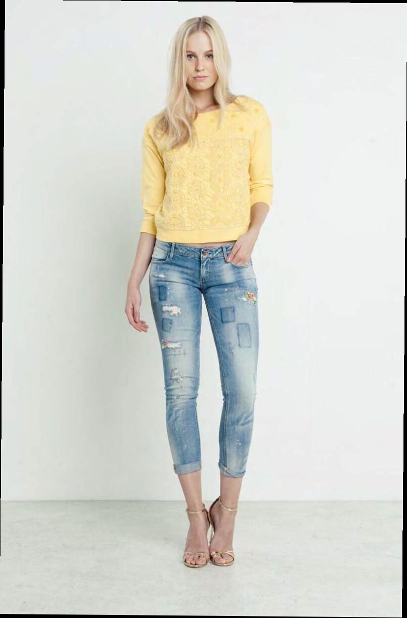 Jeans super slim in denim chiaro
