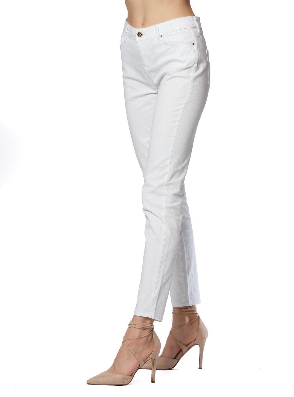 Jeans in denim stretch bianco