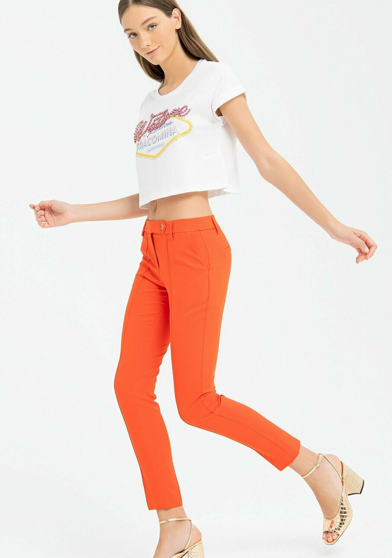 Pantalone chino skinny sartoriale