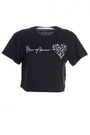 T-shirt corta con dettagli luminosi