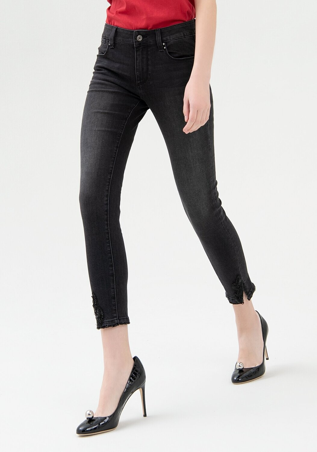 Jeans shape up skinny cropped
