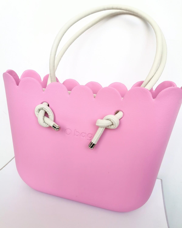 O bag tulip pink con manici knots