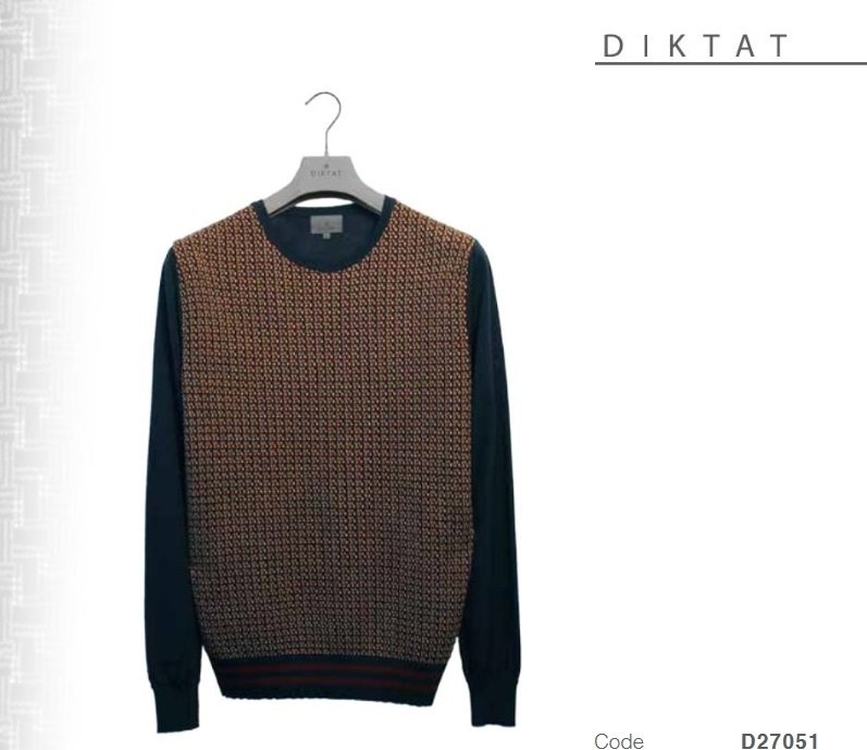 Micro-patterned wool blend sweater