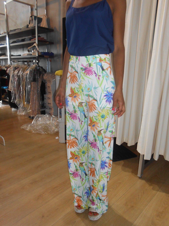 Pantalone a palazzo multicolor