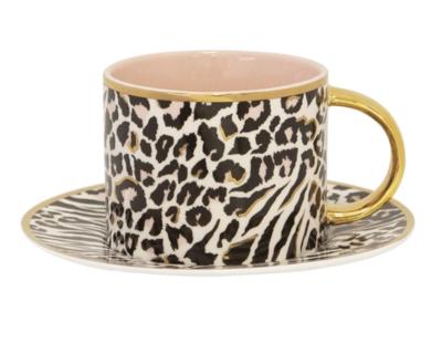 Teacup & Saucer : Safari Leopard