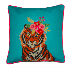Cushion : Tiger Floral Garland
