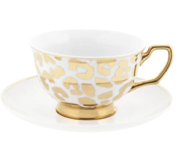 Tea Cup & Saucer : Louis Leopard