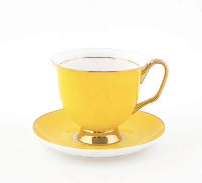 Teacup & Saucer XL - Yellow