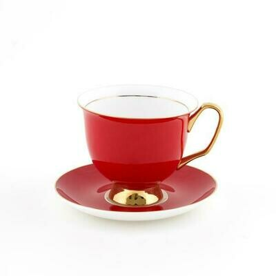 Teacup & Saucer XL - Red