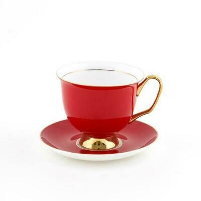 Teacup & Saucer XL - Red
