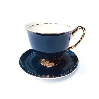 Teacup & Saucer XL - Navy Blue