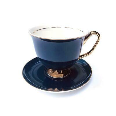 Teacup & Saucer XL - Navy Blue