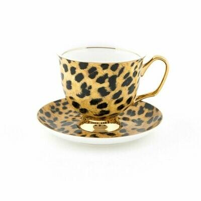 Teacup & Saucer XL - Leopard Print