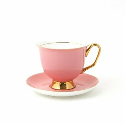 Teacup & Saucer XL - Pale Pink
