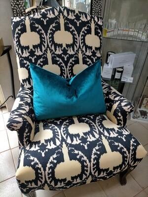 Luxurious Corduroy Ikat Chair