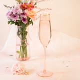 Champagne Flute Rose Crystal Set of 2