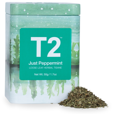 T2 Just Peppermint Loose Leaf 50g Icon Tin