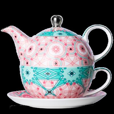 T2 Blushing Blends Tea For One Aqua Pink