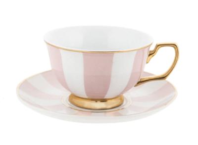 Teacup & Saucer : Blush & White