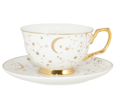Teacup & Saucer : It's Written in the Stars Ivory