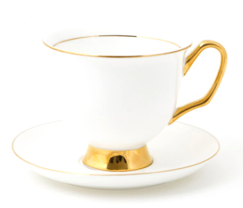 Teacup & Saucer XL - White