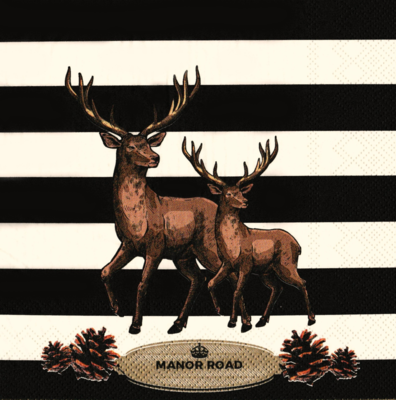 Luncheon Napkins - Striped Deer