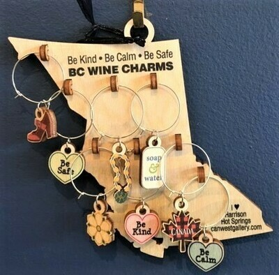 Wine Charms, Birch wood plaque