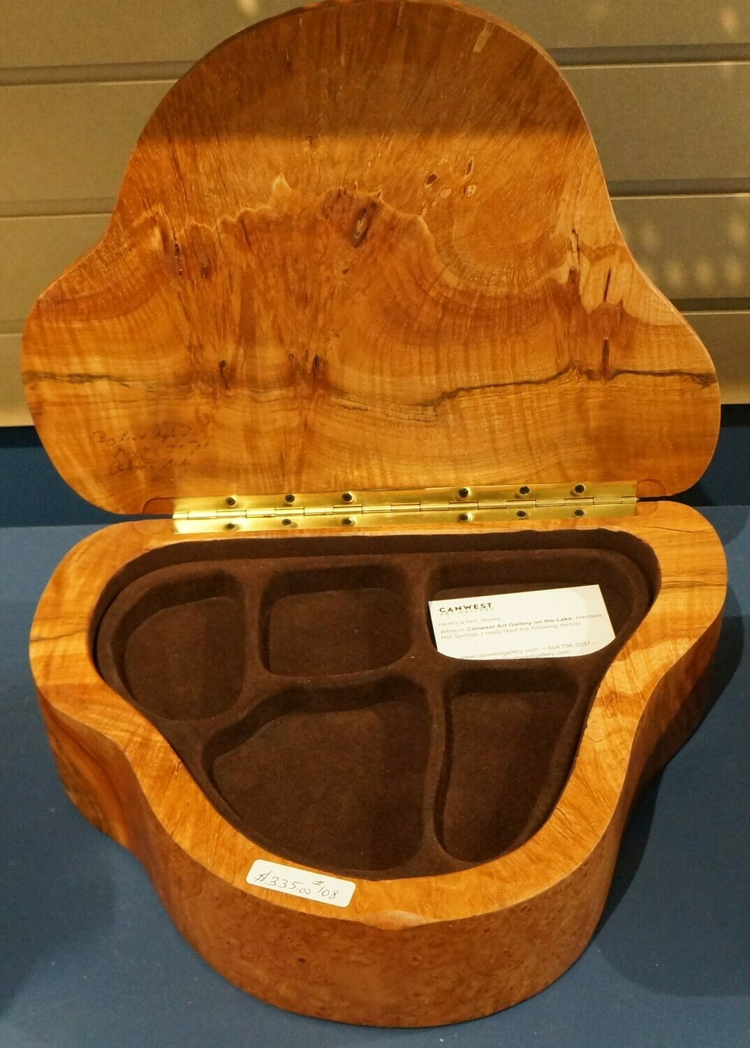 Big Leaf Maple Burl, Jewellery Box, by Robert Andrews