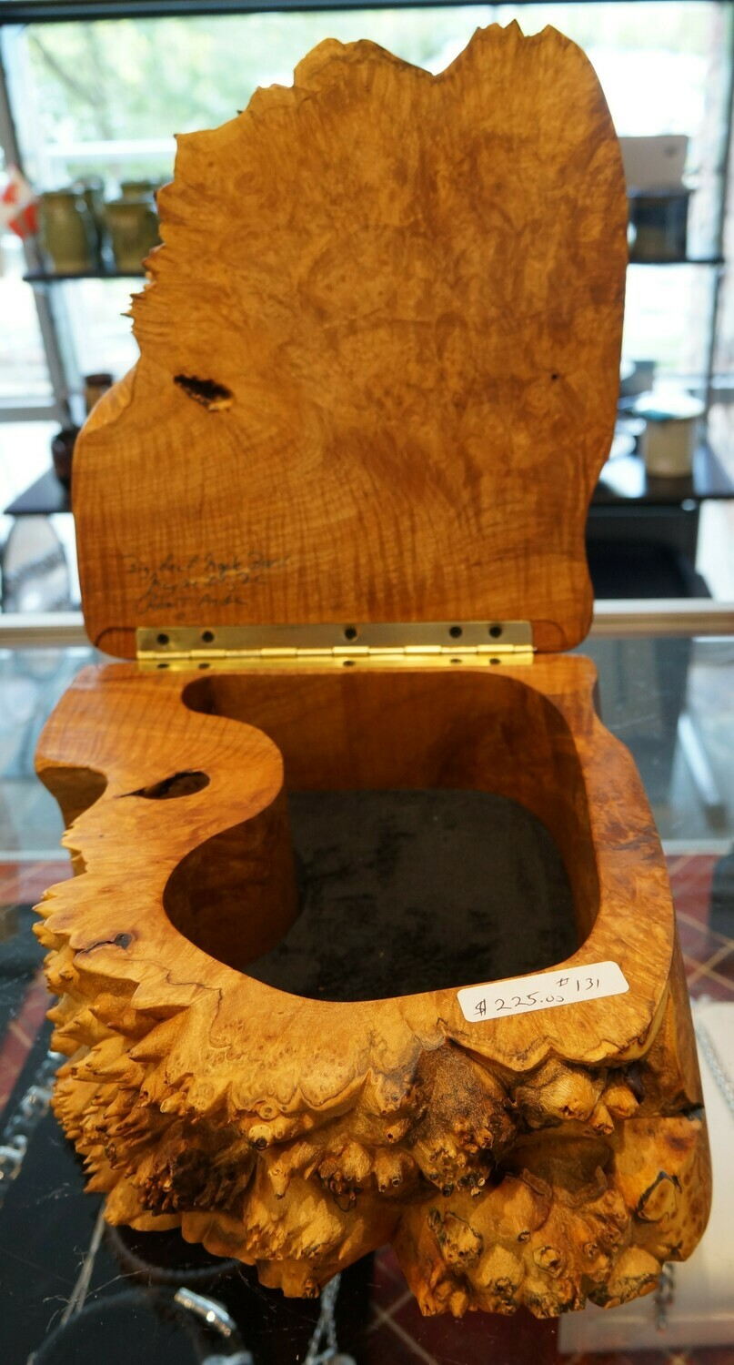 Big Leaf Maple Burl, Hollow Box, by Robert Andrews