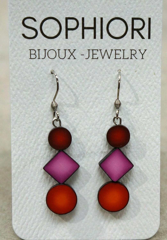 Dangle earrings, by Sophiori