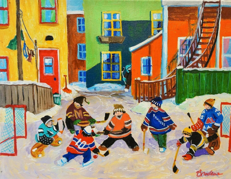 Back Alley Hockey, by King Richard Brodeur
