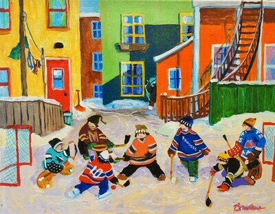 Back Alley Hockey, by King Richard Brodeur